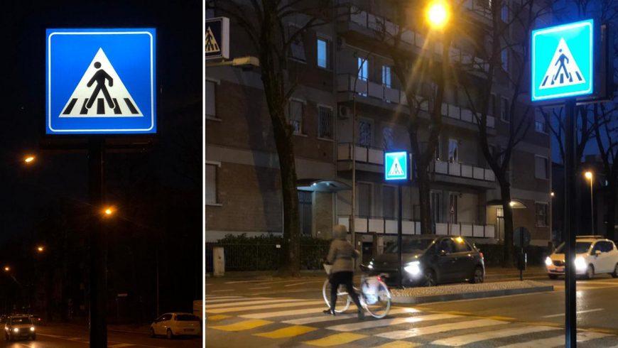 Arredo Urbano Luminoso nella Città di Parma