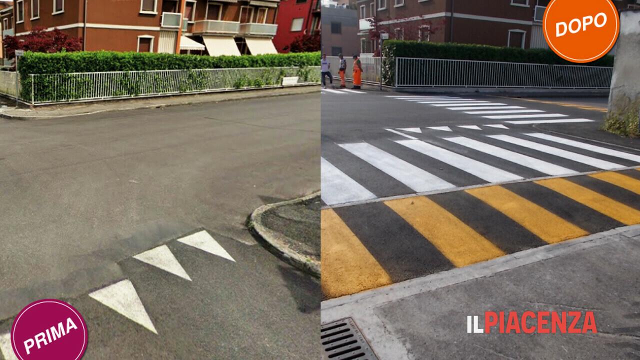 SI.SE a Piacenza: attraversamenti più sicuri con i rialzi stradali